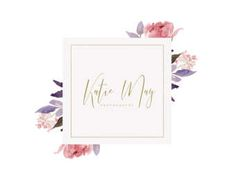 Premade Logo Feminine Design Florist Weddings Logo Design