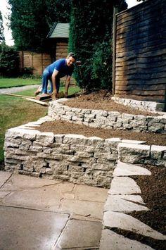 Bonney Lassie: Construction Begins on the Broken Concrete Wall