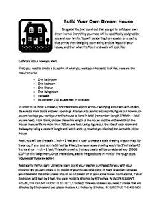Dream house math project 6th grade