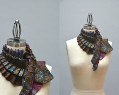 Upcycled Necktie Scarf  Ascot Collar Made From by Day17Vintage