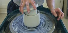 How to make a butter crock; Ceramic Arts Daily In this post, an excerpt from In the Potter's Kitchen, Sumi von Dassow shows how to throw a French butter dish on the pottery wheel. If you are unfamiliar Slab Pottery, Ceramic Pottery, Pottery Art, Pottery Studio, Pottery Tools, Pottery Designs, Ceramic Techniques, Pottery Techniques, Ceramic Studio