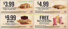 Free Printable Coupons: Burger King Coupons