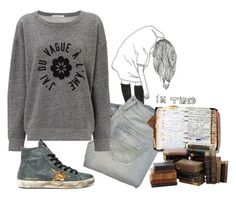 """back to the books"" by beautifulnoice ❤ liked on Polyvore featuring Abercrombie & Fitch, AG Adriano Goldschmied and Peek"