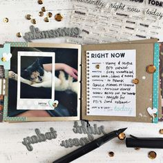 Right Now Mini Book Layout by Heather Nichols for Papertrey Ink (June 2017)