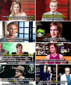 "Tom Felton and Emma Watson | ""Feltson"" through the years."