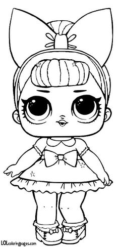 Glitter – LOL Surprise Doll Coloring Pages Cute Coloring Pages, Cartoon Coloring Pages, Adult Coloring Pages, Coloring Pages For Kids, Coloring Sheets, Coloring Books, Outline Drawings, Cute Drawings, Stitch Et Angel