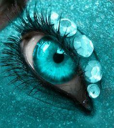 (via turquoise and black eye art | ❤ Turquoise  Black ❤ | Pinterest)