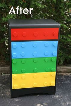 Fun and Original Ideas for Boy's Bedroom Decor – Voyage Afield Lego Furniture, Repurposed Furniture, Painted Furniture, Furniture Vintage, Children Furniture, Minecraft Furniture, Bedroom Furniture, Painting For Kids, Diy Painting