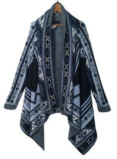 "Southwest Boho Blanket Sweater Sz M Open Front Drape Festival Medium 44"" Bust #Buffalo #Cardigan #FASHIONSENSEFORCENTS"
