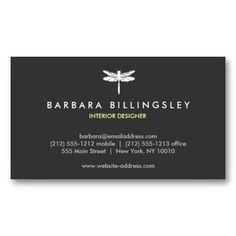 DRAGONFLY LOGO Customizable Personal Business Card Template