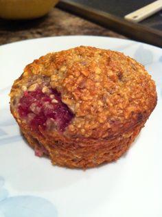 Oatmeal Raspberry Breakfast Muffins