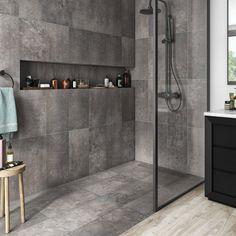 Washroom Design, Bathroom Tile Designs, Bathroom Interior Design, Modern Bathroom, Small Bathroom, Bathroom Renos, Restroom Remodel, Shower Remodel, Outdoor Bathrooms