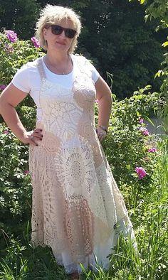 White Lace Skirt, Crochet Dresses, Upcycled Clothing, Doilies, Lana, Boho Fashion, Boho Chic, Skirts, Clothes