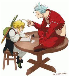 the seven deadly sins (Nanatsu no taizai) - Ban and Meliodas I Love Anime, Me Me Me Anime, Anime Guys, Manga Anime, Anime Art, Seven Deadly Sins Anime, 7 Deadly Sins, Nisekoi, Vampire Knight