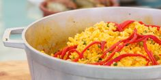 Arroz con gandules (Puerto Rican yellow rice and beans) via @jeanabeena