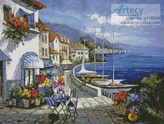 Artecy Cross Stitch. European Memories Cross Stitch Pattern to print online.