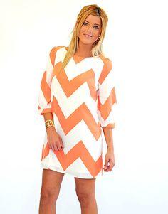 Loveliest Village Navy and Orange Chevron Dress  Gameday Wear ...