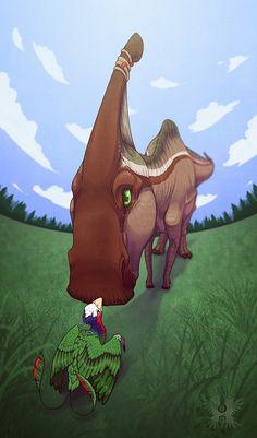 Hello Small One by Bueshang on DeviantArt All Dinosaurs, Jurassic World Dinosaurs, Jurassic Park World, Dinosaur Drawing, Dinosaur Art, Dinosaur Fossils, Fantasy Wesen, Dinosaur Tracks, Cat Anatomy