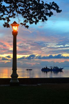 Rizal Boulevard, Dumaguete City, Philippines.