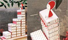 An Advent calendar made of matchbooks. Very neat.