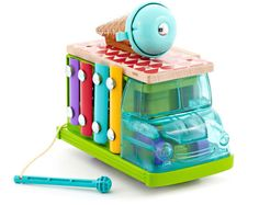 wooden toys for Fisher Price - the sweet sounds ice cream truck is a new take on a xylophone