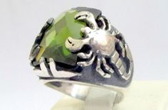 925 Sterling Silver Men's Ring with Scorpion  by lunasilvershop, $54.90
