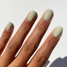 Turquoise Nail Polish, Green Nail Polish, Green Nails, Nail Polish Colors, White Nails, Green Nail Designs, Minimalist Nails, Swag Nails, Diy Nails