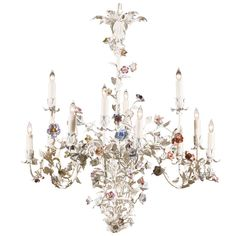 Vintage Italian Mil Flores Chandelier | See more antique and modern Chandeliers and Pendants  at https://www.1stdibs.com/furniture/lighting/chandeliers-pendant-lights