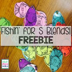 Fishin' for S blends! Free speech activity for Preschool and primary grades