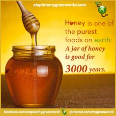 ☛Nature's miracle: Did you know?  A jar of honey is good for 3000 years?    FOR THE EXTRAORDINARY HEALING BENEFITS OF MANUKA HONEY: http://www.stepintomygreenworld.com/healthyliving/greenfoods/potency-and-extraordinary-healing-benefits-of-manuka-honey/    ✒ Share | Like | Re-pin | Comment