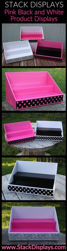 Pink, Black and White Cardboard Counter Displays - In Stock - Perfectly Posh, Pure Romance, Pink Zebra, & More
