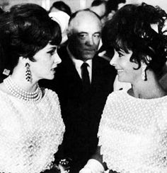Gina and Elizabeth in the same dress. Moscow international film festival 1967