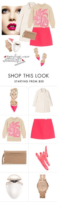 """Spring outfit"" by lera-chyzh ❤ liked on Polyvore featuring Valentino, Monki, Emilio Pucci, RED Valentino, Ilia, Bulgari, Marc by Marc Jacobs, skirt, Clutch and emiliopucci"