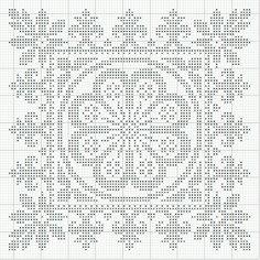 Modelo. Cross stitche. Punto de cruz.  This could easily be a filet crochet.