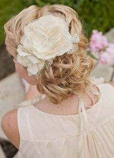 Bridal silk flowers wedding hair flower small silk flowers ivory bridal silk flowers wedding hair flower by melindarosedesign mightylinksfo