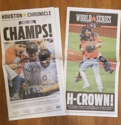 9ad4a06a9d0 HOUSTON ASTROS CHRONICLE Newspaper 11-2-2017 RARE WSeries SPECIAL EDITION   14.75 please retweet