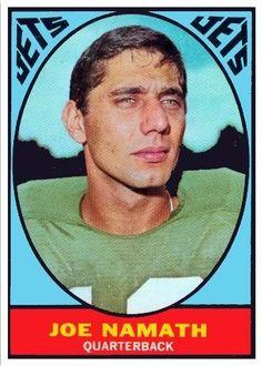 1967 Topps Joe Namath New York Jets Football Card Nfl Football Players, Football Memes, Sports Memes, Alabama Football, Football Memorabilia, Alabama Athletics, Football 101, Giants Football, Football Baby