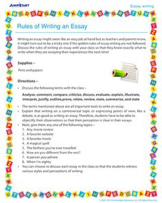 autobiography of my favorite thing essay writing activity  rules of writing an essay essay writing activity for kids