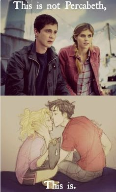 Percy Jackson film Percabeth vs Fan art Percabeth