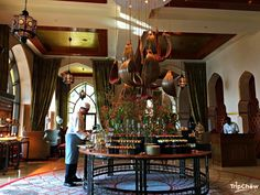 Chef preparing for high tea at Al Bayt, The Palace