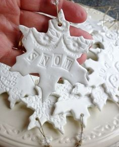 Christmas Plaster of Paris Crafts | Make Snowflake shaped clay ...