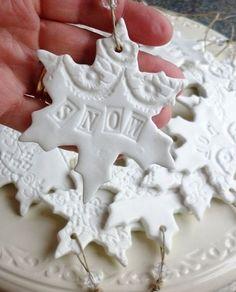 Christmas Plaster of Paris Crafts | Make Snowflake shaped clay ...