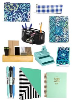 """Office Supplies"" by kristinhoconnor ❤ liked on Polyvore featuring interior, interiors, interior design, home, home decor, interior decorating, Vera Bradley, Jayson Home, Madewell and 1canoe2"