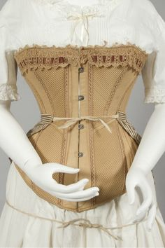 Australian cotton corset, 1885-1890. Courtesy of the Powerhouse Museum.