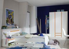 Beautiful Jugendzimmer komplett Bibi Kinderzimmer Wei Orange Jugendzimmer komplett Bibi bestehend aus Kleiderschrank Garderobenset Jugendbet