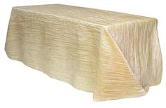 90 x 156 inch Crinkle Taffeta rectangular Tablecloths Champagne for Weddings
