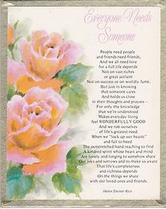 Wall or Stand Plaque with Helen Steiner Rice Poem 4 Different Helen Steiner Rice Poems, Sinner Saved By Grace, Religious Poems, Whatsoever Things Are Lovely, Birthday Poems, Xmas Wishes, Christian Quotes, Christian Faith, Sisters In Christ