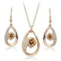 zircon jewelry set 420054