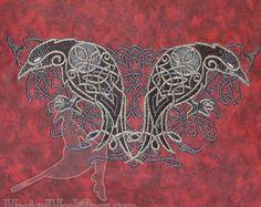 Celtic Crow Symbol | Popular items for celtic raven