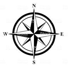 Basic Compass Rose royalty-free basic compass rose stock vector art & more images of compass rose Nautical Compass Tattoo, Compass Drawing, Sharpie Drawings, Rose Stencil, Nautical Star, Bear Tattoos, Star Of Bethlehem, Compass Rose, Arm Tattoos For Guys